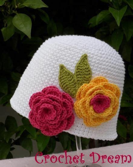 crochet gorros tejidos de gancho para nina sandalias tejidas a crochet dos rosas gorro para ni 241 a tejido a crochet artesanum