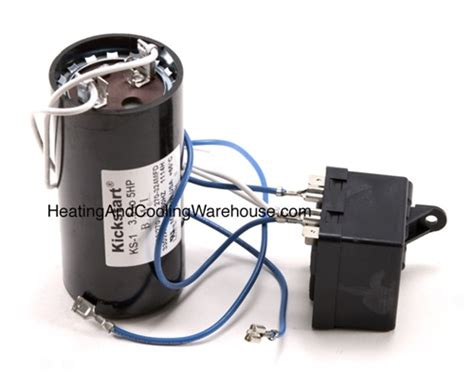 start kit relay capacitor ks1 start kit potential relay and start capacitor for 3 5 to 5 ton systems