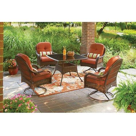 Better Homes And Gardens Outdoor Dining Seat Cushion Set Better Homes And Gardens Wicker Patio Furniture