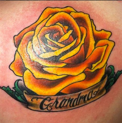 small yellow rose tattoo simple quote and yellow tattoomagz
