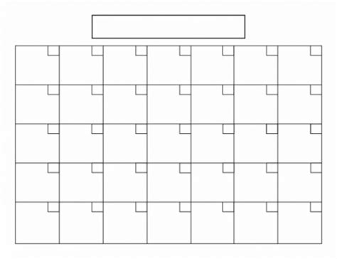 blank calendar 8 5 x 11