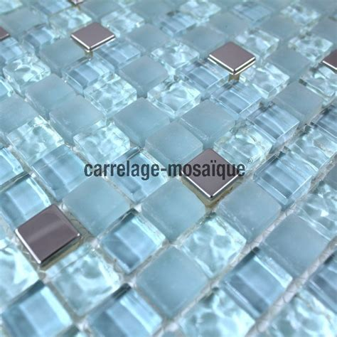 stainless steel bathroom tiles mosaic tiles glass and stainless steel shower bath harris blue carrelage mosaique