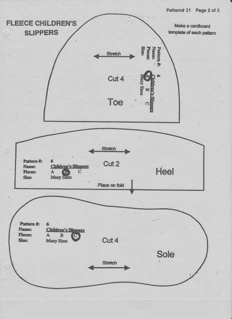 slipper sewing pattern lds to many free fleece slipper pattern adjust size