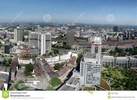 ths essen wohnungen panorama of the city center of essen stock image image