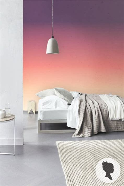 how to paint a sunset on a bedroom wall sunset ombre self adhesive removable wallpaper d173