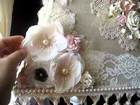 gorgeous altered shabby chic l shade youtube