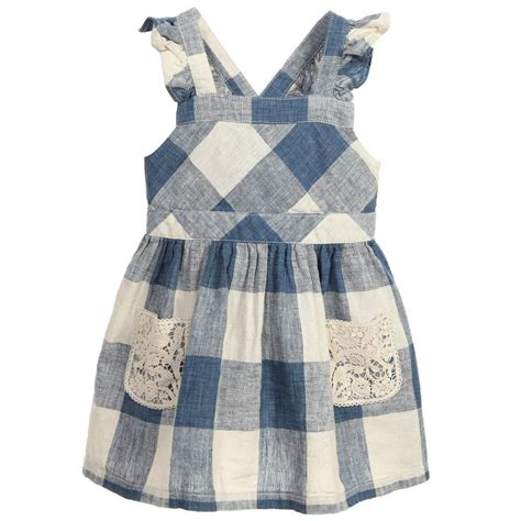 baby dress check linen summer dress 2015 plaid