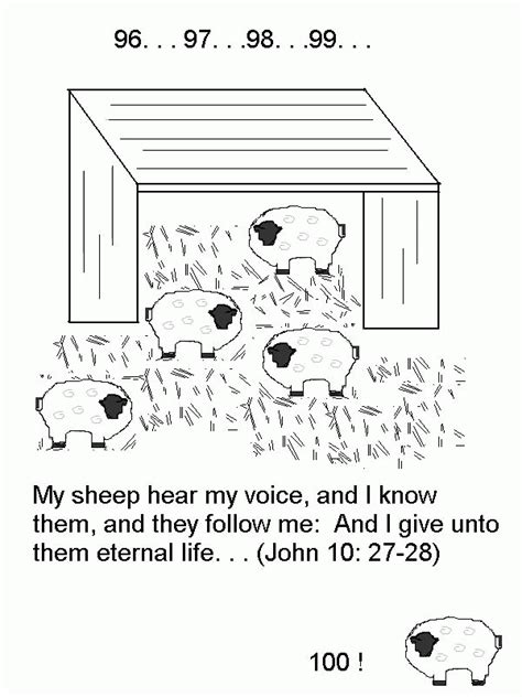 Free Bible Coloring Pages Lost Sheepl L
