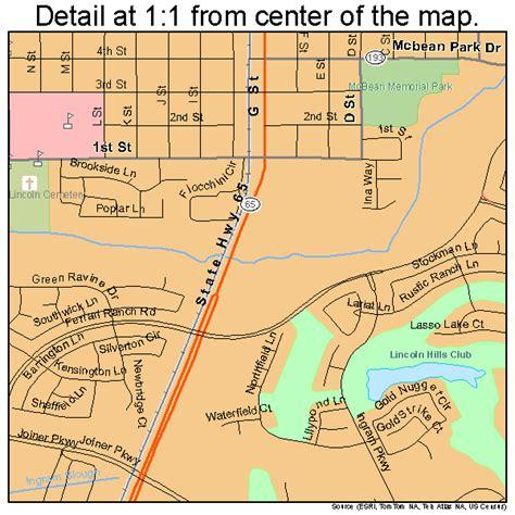 lincoln california map 0641474
