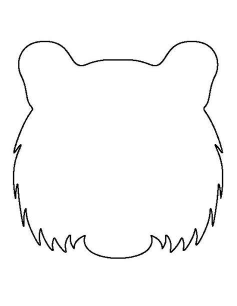 tiger template tiger pattern use the printable outline for crafts