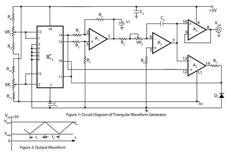 triangular wave generator electronics project