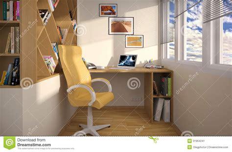 interior design work area   balcony stock image