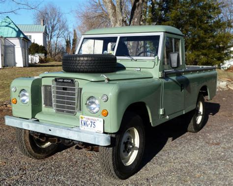 land rover truck for sale 1973 land rover series iii 109 pickup bring a trailer
