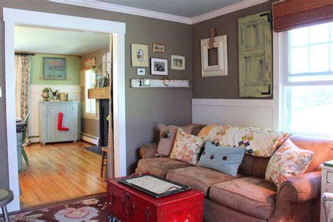 Houzz Living Room Farmhouse My Houzz Vintage Farmhouse Flair In The Philly Suburbs