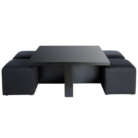 table basse avec pouf kreabel ezooq
