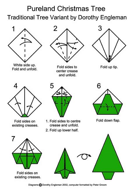 How To Fold A Paper Tree - tree happy holidays