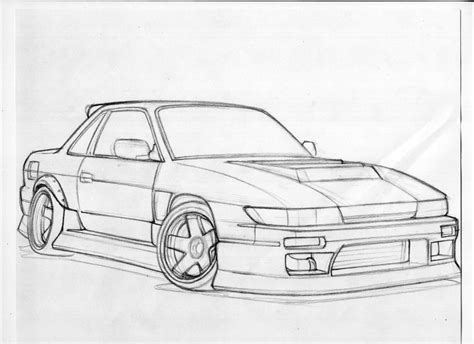 nissan silvia drawing silvia s13 by writenrun on deviantart
