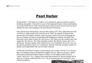 Attack On Pearl Harbor Essay by The Attack On Pearl Harbour Gcse History Marked By Teachers