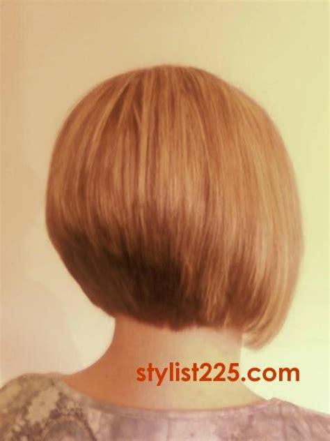 stacked short hair cuts front and back view a line stacked haircuts front and back views