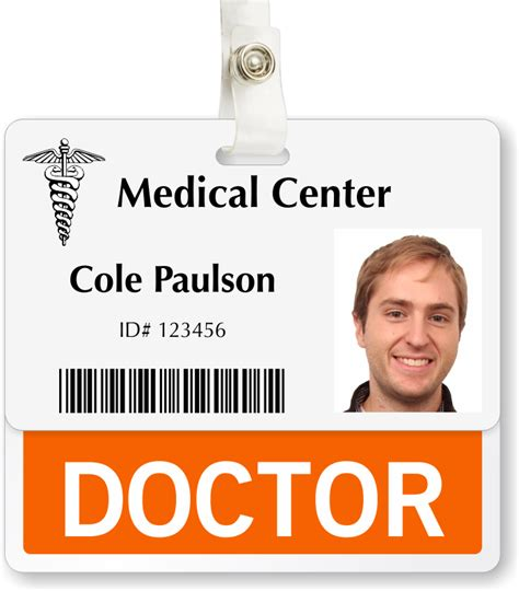 doctor id card template badge buddy identity badge holder fast free shipping