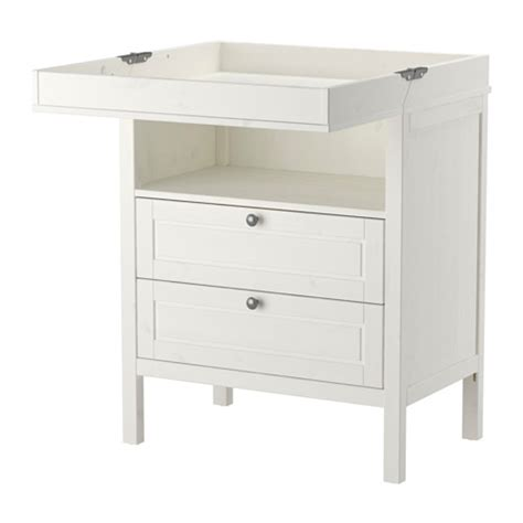 white change table sundvik changing table chest white ikea
