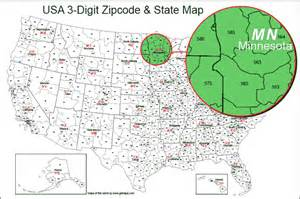 usa 3 digit zipcode map