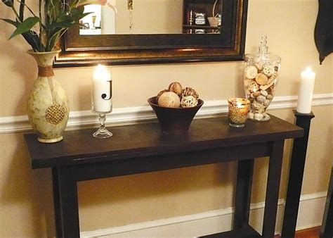 how to a console table diy console table a simple weekend project somewhat simple
