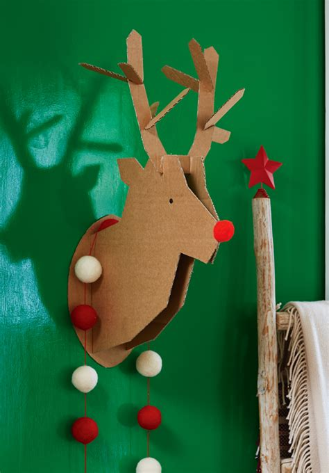 craft reindeer cardboard box craft how to make a reindeer