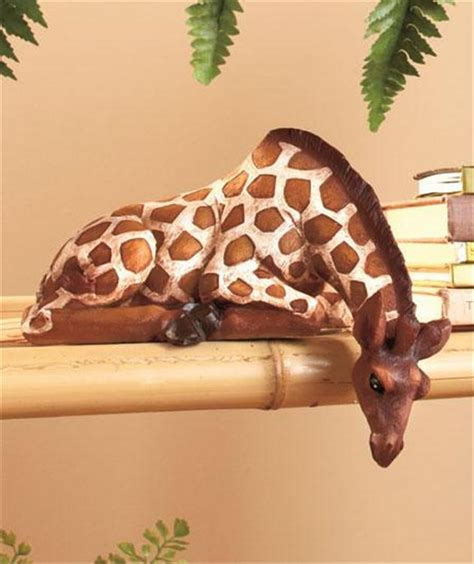 giraffe decorations for the home safari animal detailed zebra giraffe deer shelf sitter