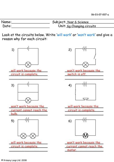 circuits year 4 electrical diagrams 1 primaryleap co uk