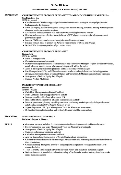 Ira Specialist Cover Letter by Production Specialist Sle Resume Specialist Sle Resume Ira Specialist Sle Resume