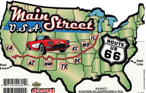 map of usa route 66 route 66 usa map sticker route 66 gift shop