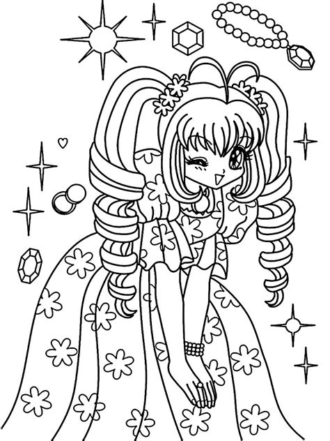 imagenes para pintar anime dibujos para colorear kawaii anime