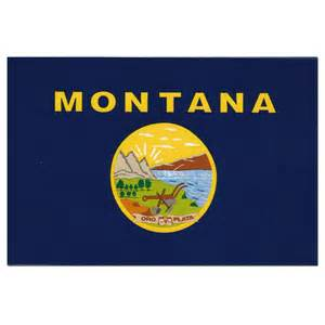 montana state colors montana flag decal