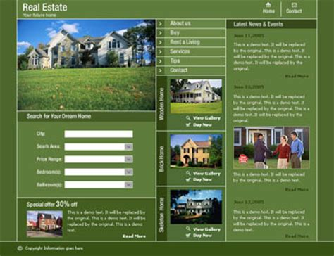 Ready Request A New Real Estate Investment Web Template Free Website Templates Real Estate Development Website Templates