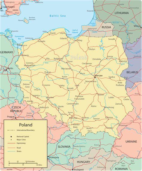 poland map europe map poland