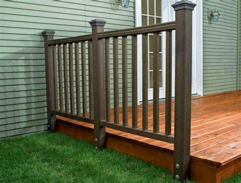 how to install a composite railing home improvement and