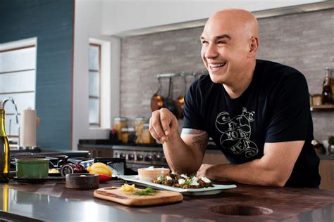 michael symon tattoos michael symon brings quot burgers brew que quot to food