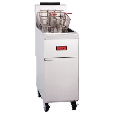 Kitchen Gear Standing by Thor Gas Fryer Cooking Equipment Fryers Free