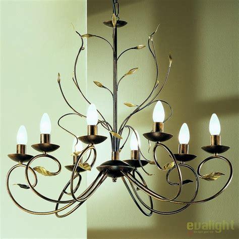 Lu Antik candelabru design rustic cu 8 brate luca lu 1571 8 antik