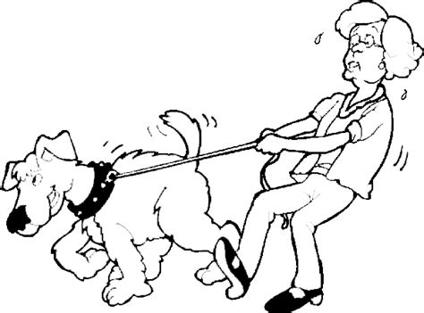 walking dog coloring page dog coloring pages walking the dog coloring page color