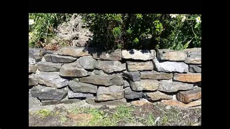 How To Build Rock Garden Wall Youtube Building Garden Walls