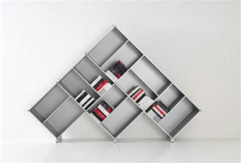pyramid contemporary modular bookcase system from fitting