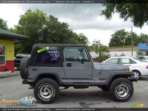 jeep wrangler grey 1991 jeep wrangler 4x4 silver metallic grey photo