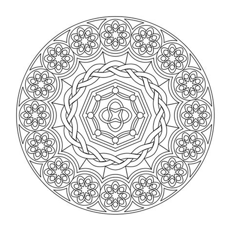 mandala coloring pages for relaxation printable mandala room fillers