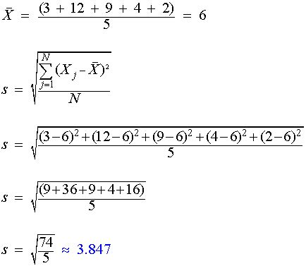 standard deviation calculate formula sle