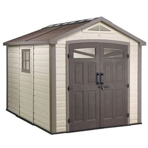 keter 9 ft x 8 ft shed 211979 the home depot