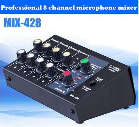 Mixer Audio Mini Aliexpress Buy Free Shipping Professional 8 Channel Mini Mixer Audio For Stage Home