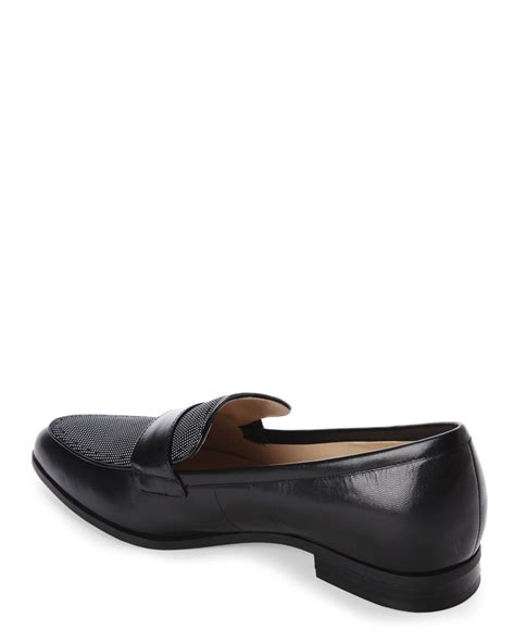 nine west loafer nine west black school loafer in black lyst