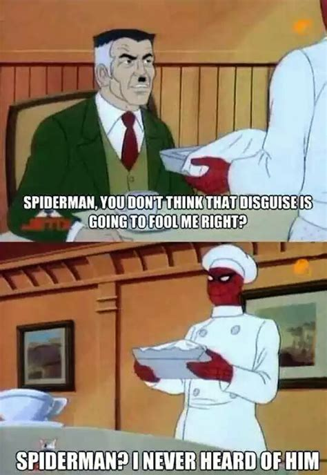 Retro Spiderman Meme - j jonah jameson suspects 60 s spider man is somewhere in